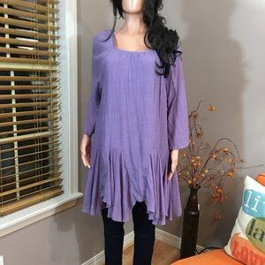 NWT lilac purple flowy asymmetrical tunic